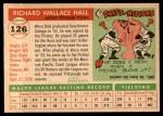 1955 Topps #126  Dick Hall  Back Thumbnail