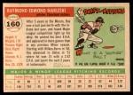 1955 Topps #160  Ray Narleski  Back Thumbnail