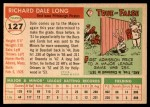 1955 Topps #127  Dale Long  Back Thumbnail