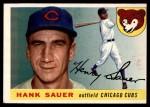 1955 Topps #45  Hank Sauer  Front Thumbnail