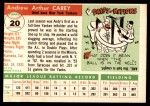 1955 Topps #20  Andy Carey  Back Thumbnail