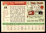 1955 Topps #18  Russ Kemmerer  Back Thumbnail