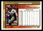 1997 Topps #54  Clay Matthews  Back Thumbnail