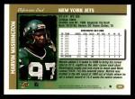 1997 Topps #249  Marvin Washington  Back Thumbnail