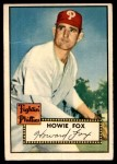 1952 Topps #209  Howard Fox  Front Thumbnail