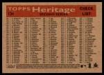 2007 Topps Heritage #134   Philadelphia Phillies Team Back Thumbnail
