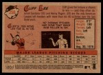 2007 Topps Heritage #258  Cliff Lee  Back Thumbnail