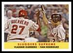 2007 Topps Heritage #321  Vladimir Guerrero  /  Ivan Rodriguez  Front Thumbnail