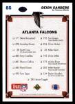 1991 Upper Deck #85   -  Deion Sanders Atlanta Falcons Team Back Thumbnail