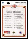 1991 Upper Deck #80   -  Derrick Thomas Kansas City Chiefs Team Back Thumbnail