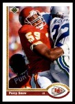 1991 Upper Deck #36  Percy Snow  Front Thumbnail