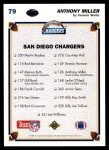 1991 Upper Deck #79   -  Anthony Miller San Diego Chargers Team Back Thumbnail