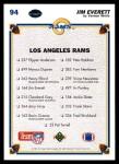 1991 Upper Deck #94   -  Jim Everett St. Louis Rams Team Back Thumbnail