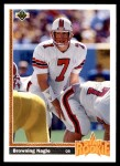 1991 Upper Deck #11  Browning Nagle  Front Thumbnail
