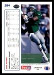 1991 Upper Deck #284  Seth Joyner  Back Thumbnail