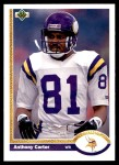 1991 Upper Deck #236  Anthony Carter  Front Thumbnail