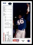 1991 Upper Deck #315  Leonard Smith  Back Thumbnail