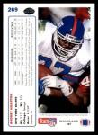 1991 Upper Deck #269  Rodney Hampton  Back Thumbnail
