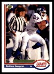 1991 Upper Deck #269  Rodney Hampton  Front Thumbnail