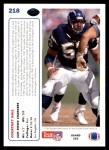 1991 Upper Deck #218  Courtney Hall  Back Thumbnail
