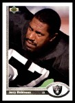 1991 Upper Deck #238  Jerry Robinson  Front Thumbnail