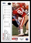 1991 Upper Deck #351  Brent Jones  Back Thumbnail
