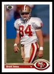 1991 Upper Deck #351  Brent Jones  Front Thumbnail