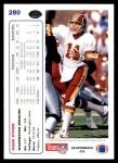1991 Upper Deck #280  Mark Rypien  Back Thumbnail