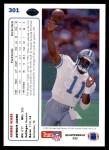 1991 Upper Deck #301  Andre Ware  Back Thumbnail
