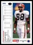 1991 Upper Deck #241  Reggie Langhorne  Back Thumbnail