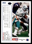 1991 Upper Deck #253  Sammie Smith  Back Thumbnail