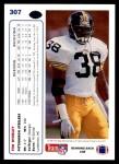 1991 Upper Deck #307  Tim Worley  Back Thumbnail