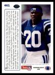 1991 Upper Deck #461   -  Albert Bentley Team MVP Back Thumbnail