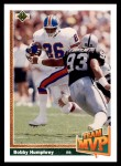 1991 Upper Deck #457   -  Bobby Humphrey Team MVP Front Thumbnail
