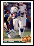 1991 Upper Deck #469   -  Ottis Anderson Team MVP Front Thumbnail