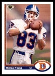 1991 Upper Deck #553  Michael Young  Front Thumbnail