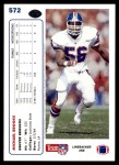 1991 Upper Deck #572  Michael Brooks  Back Thumbnail