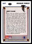 1991 Upper Deck #647  Brett Favre  Back Thumbnail