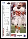 1991 Upper Deck #669  Ricky Reynolds  Back Thumbnail
