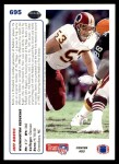 1991 Upper Deck #695  Jeff Bostic  Back Thumbnail