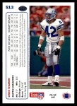 1991 Upper Deck #513  Chris Warren  Back Thumbnail
