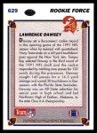 1991 Upper Deck #629  Lawrence Dawsey  Back Thumbnail