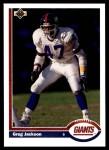 1991 Upper Deck #416  Greg Jackson  Front Thumbnail