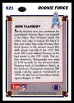 1991 Upper Deck #621  John Flannery  Back Thumbnail