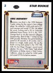 1991 Upper Deck #2  Eric Bieniemy  Back Thumbnail