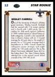 1991 Upper Deck #12  Wesley Carroll  Back Thumbnail