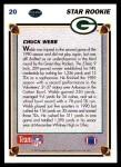 1991 Upper Deck #20  Chuck Webb  Back Thumbnail