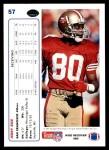 1991 Upper Deck #57  Jerry Rice  Back Thumbnail