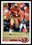 1991 Upper Deck #57  Jerry Rice  Front Thumbnail