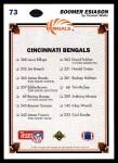 1991 Upper Deck #73   -  Boomer Esiason Cincinnati Bengals Team Back Thumbnail